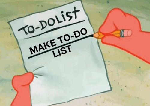 to do list make a to do list